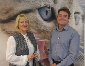 Janet Hughes and Agria Managing Director Simon Wheeler